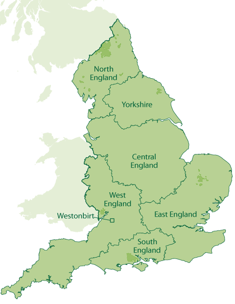Map Of England Districts.Our Offices Forestry England