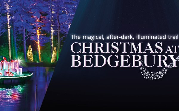 The illuminated trail, Christmas at Bedgebury event poster