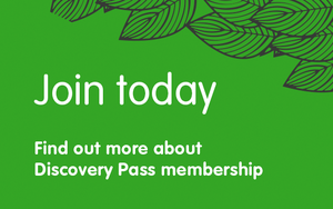 Discovery Pass membership invitation - click to find out more about membership