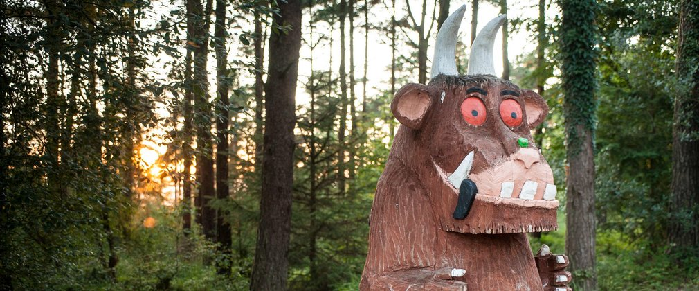 Giant Gruffalo Sculpture in the Forest