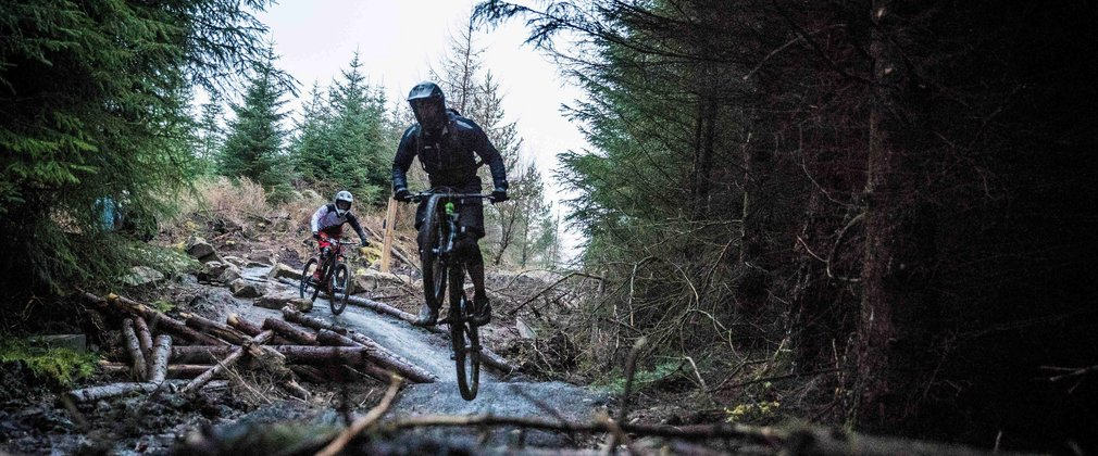 Mountain biker in Hamsterley Forest