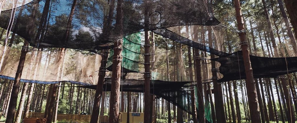 Go Ape Nets strung up high in the trees