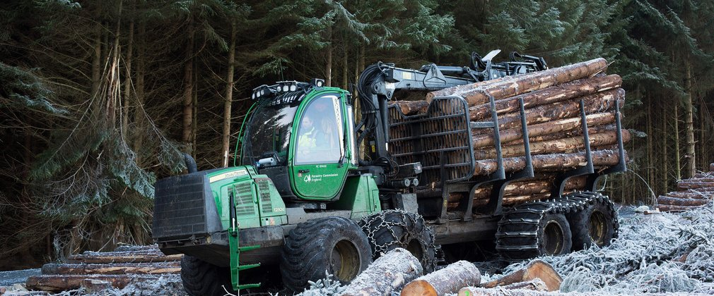 Forwarder working in Kielder Forest