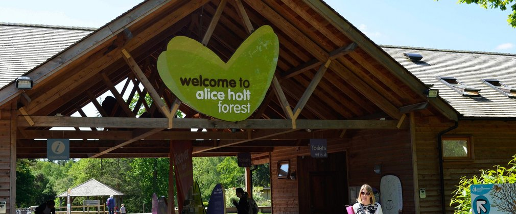 Welcome Building at Alice Holt Forest in Farnham Surrey