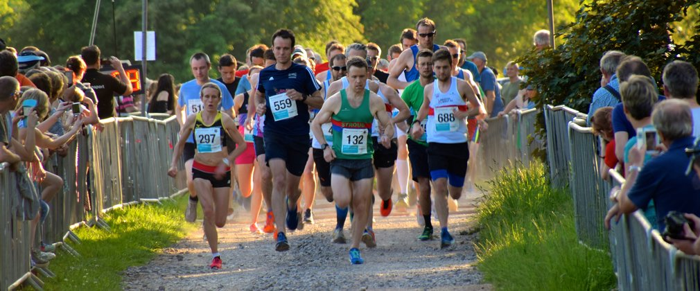 runners at the start of a race at Westonbirt