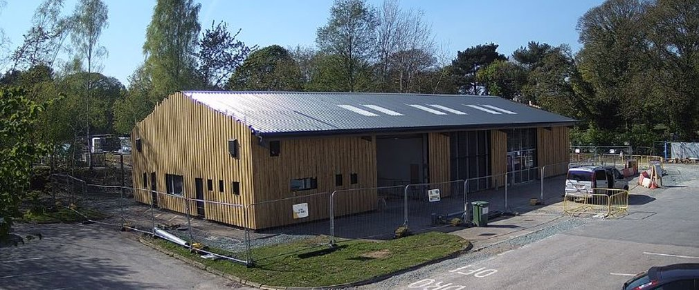 Bike hire building at Delamere Forest