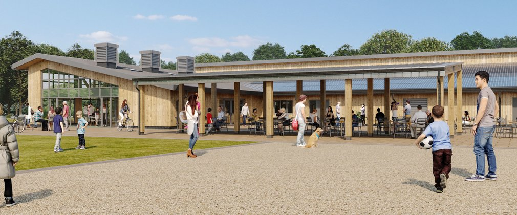 Delamere redevelopment artist impression of external building