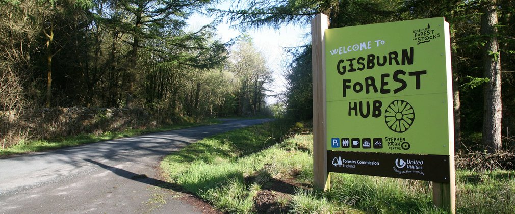 Gisburn Forest entrance