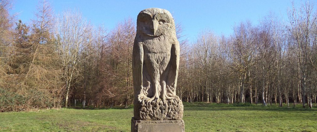 Owl sculpture at Sefton Meadows