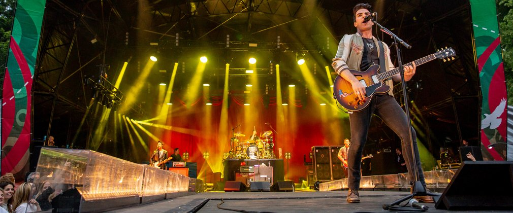 Stereophonics performing on stage at Forest Live in Thetford