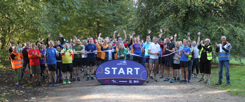 Start of parkrun running event