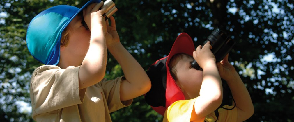 Children enjoying a birdwatching event