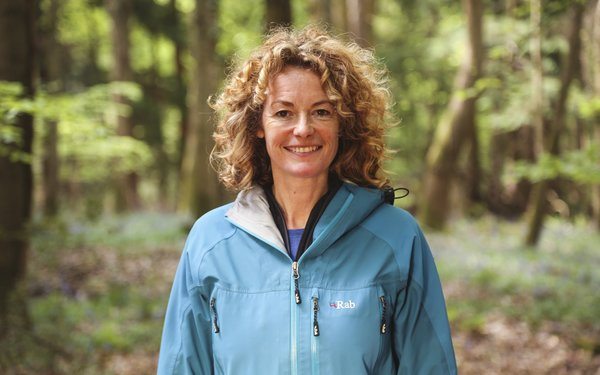 Kate Humble in the woods