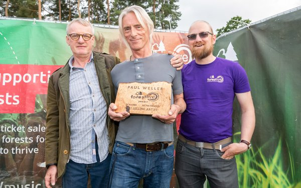 Paul Weller honoured by Forest Live