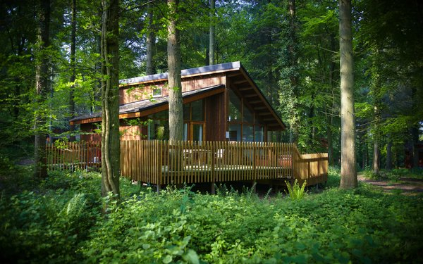 Forest Holidays cabin at the Forest of Dean
