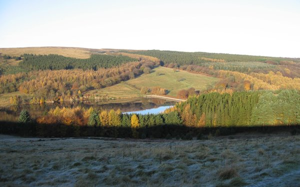 Goyt Valley frosty landscape