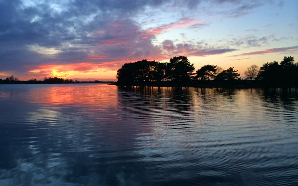 Hatchet Pond lake sunset