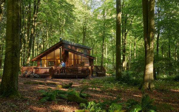 Forest Holidays cabin in the woods