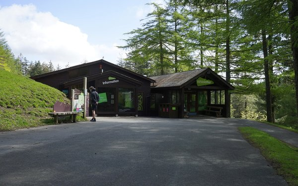 Front of Whinlatter visitor centre and information point
