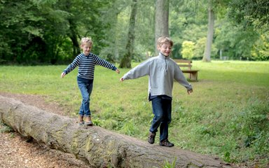 Children playing at Westonbirt