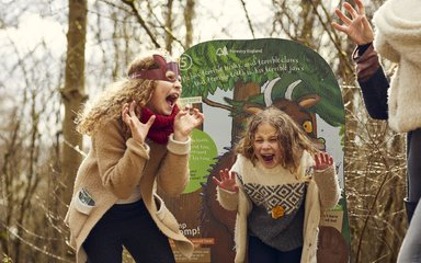 Children on Gruffalo Spotters trail