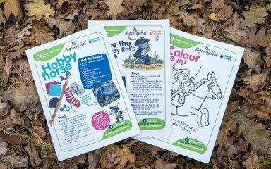 Highway Rat Activity Trail sheets for kids to enjoy in the forest