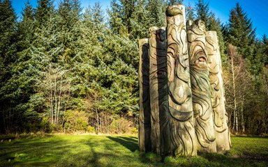 Sculpture at Hamsterley Forest