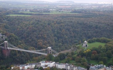 Aerial View over Leigh Woods near Bristol