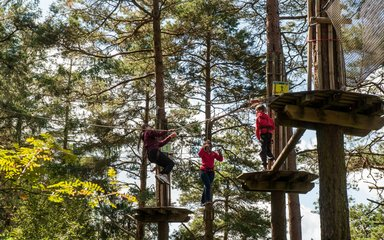 Family on Go Ape tree top adventure