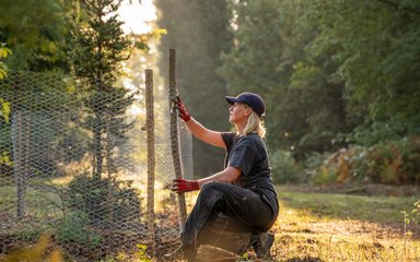 Female forester at work
