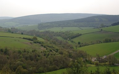View of landscape from Bury Ditches viewpoint