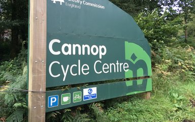 Cannop Cycle Centre sign