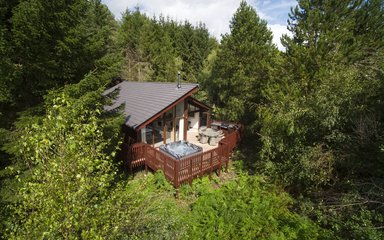 A Forest Holidays Lodge at Delamere Forest