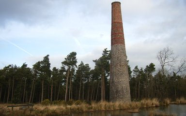 Smitham Chimney and pond at East Harptree Wood