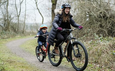 Family Cycling at Fineshade Wood