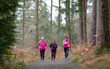Running club at Haldon Forest