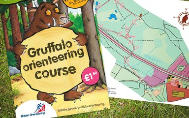 Gruffalo orienteering activity pack on the grass