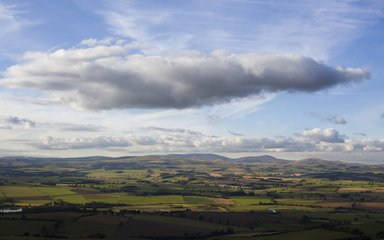 Forests of Rothbury,  view from top of Simonside