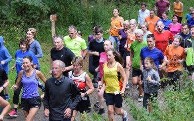 Off-road running event in the Forest