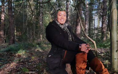Zakiya Mckenzie in the forest