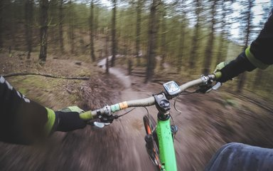 Cannock chase mountainbiker point of view