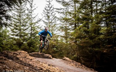 Mountain biker j Hamsterley Forest